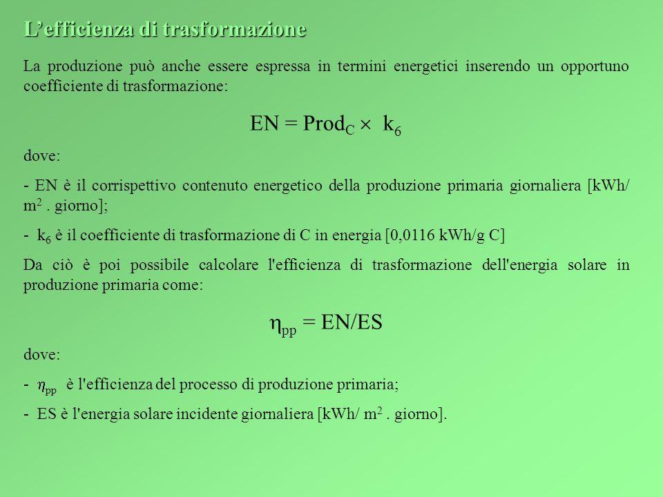 L'efficienza di trasformazione