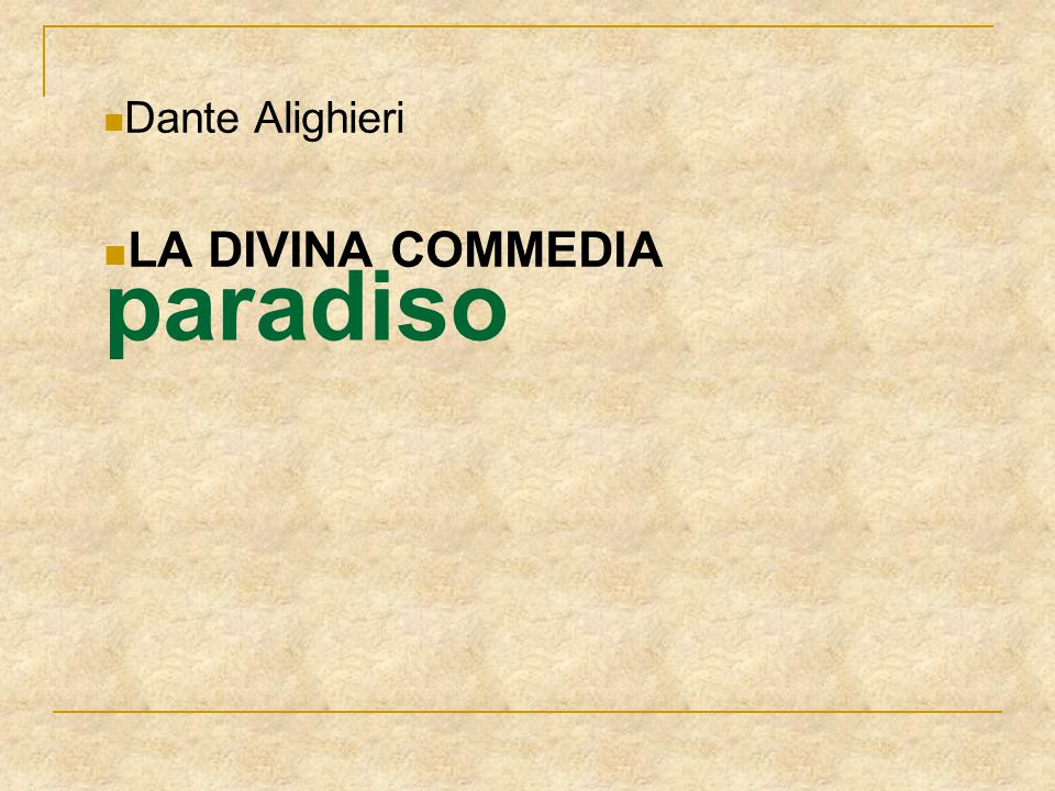 Dante Alighieri LA DIVINA COMMEDIA paradiso