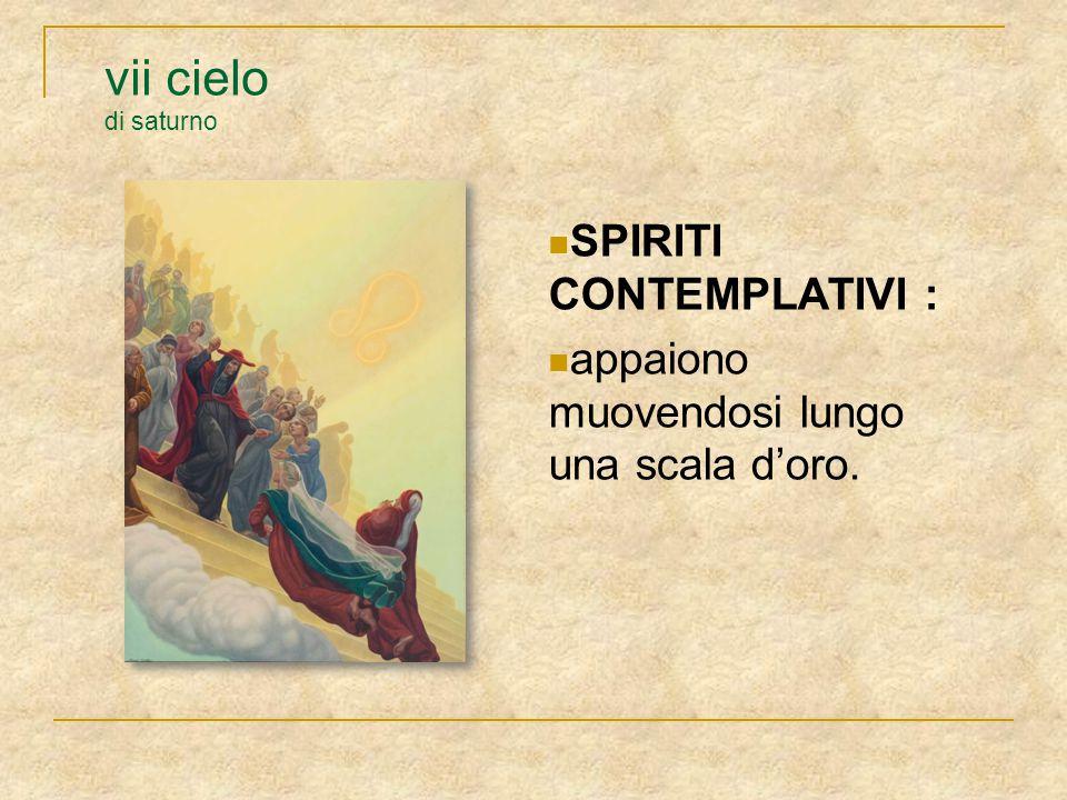 vii cielo di saturno SPIRITI CONTEMPLATIVI :