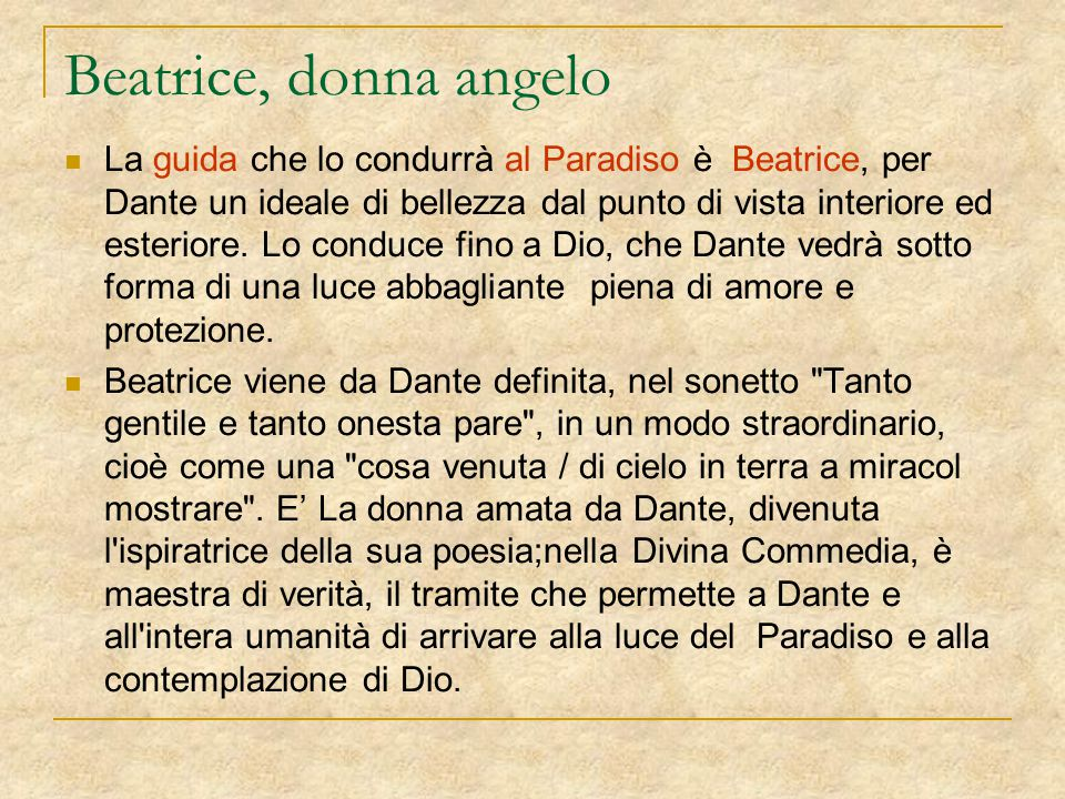 Beatrice, donna angelo