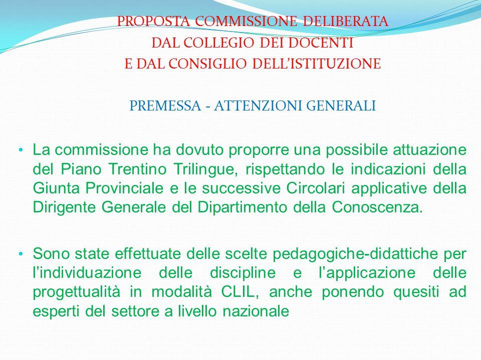 PROPOSTA COMMISSIONE DELIBERATA