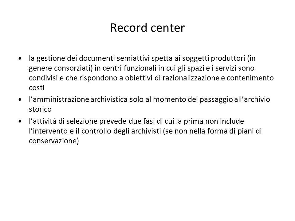 Record center