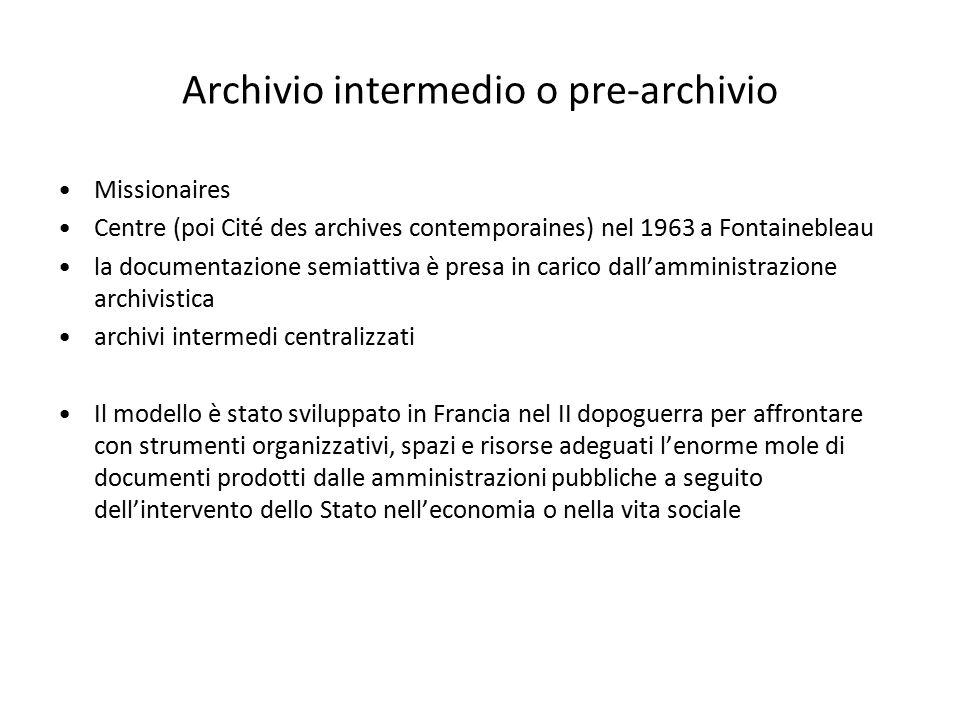 Archivio intermedio o pre-archivio