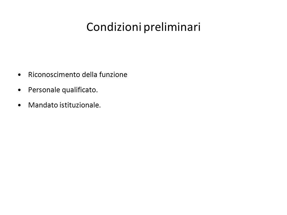 Condizioni preliminari