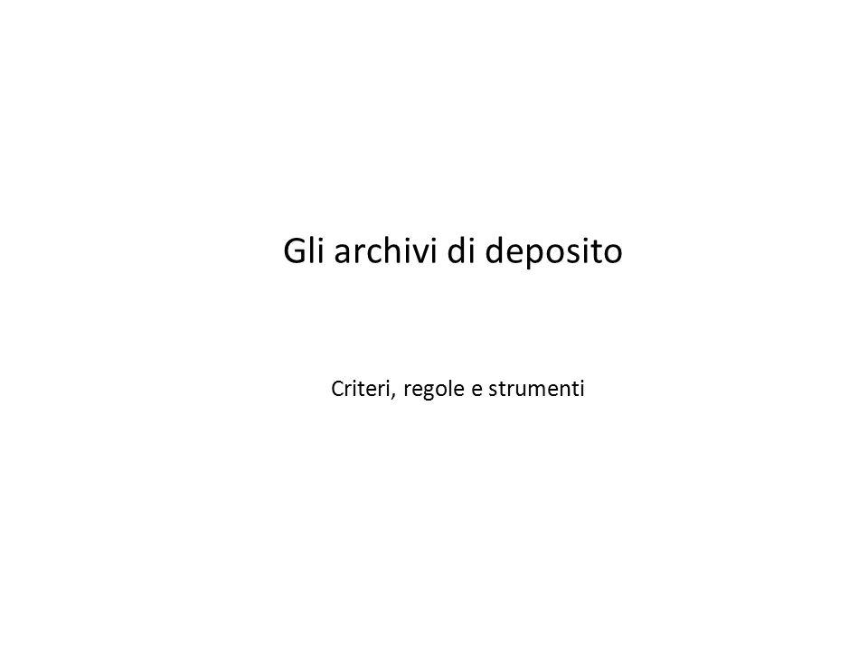 Gli archivi di deposito