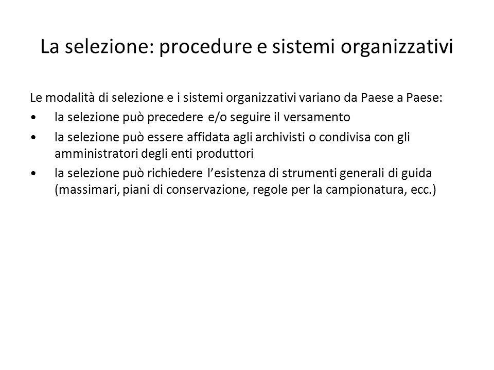 La selezione: procedure e sistemi organizzativi