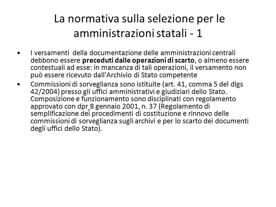 La normativa sulla selezione per le amministrazioni statali - 1