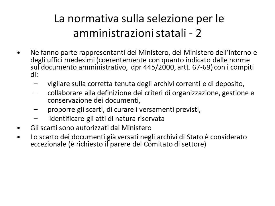 La normativa sulla selezione per le amministrazioni statali - 2