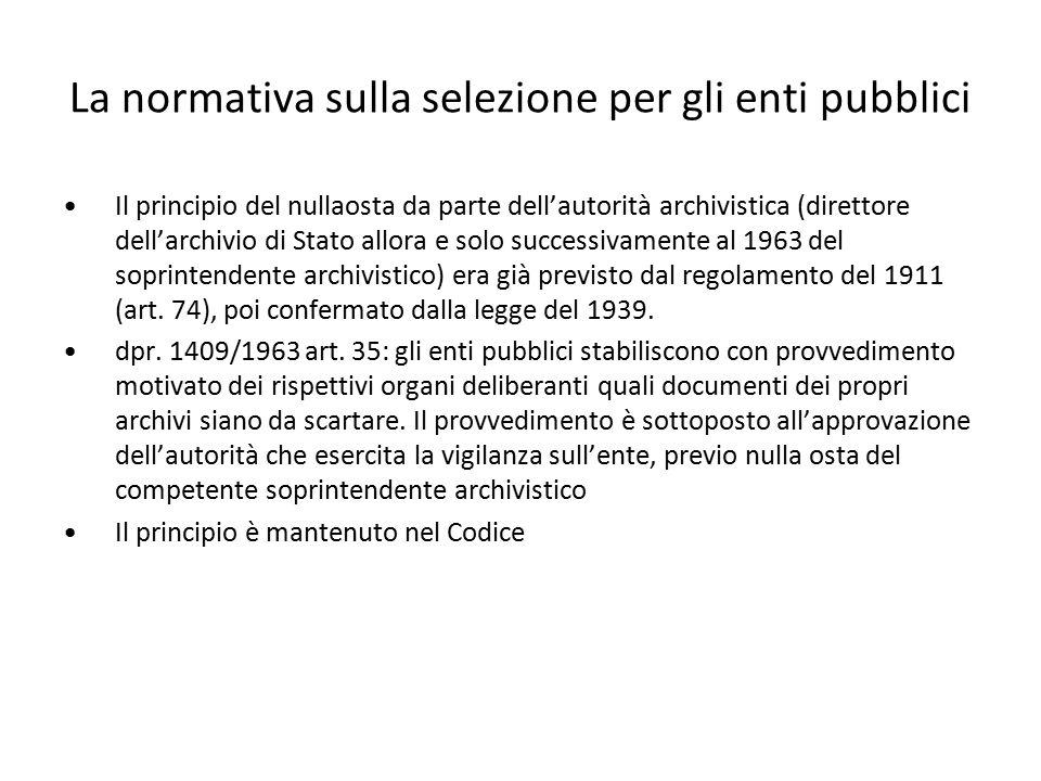 La normativa sulla selezione per gli enti pubblici