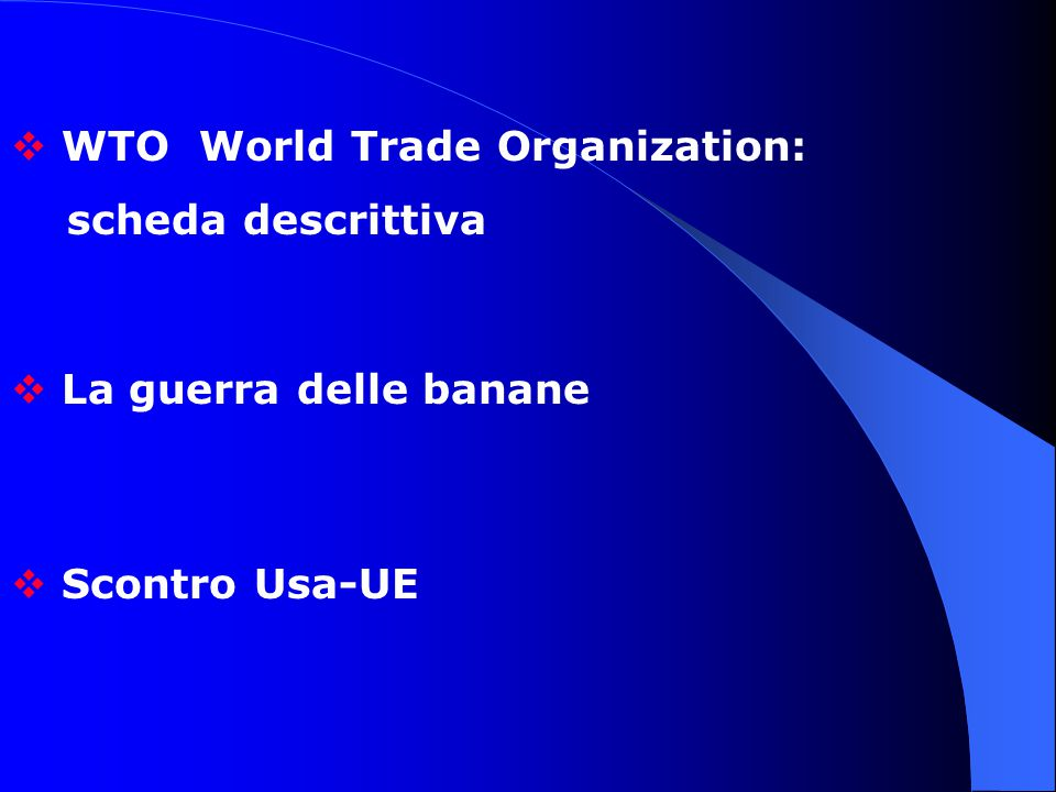 WTO World Trade Organization: