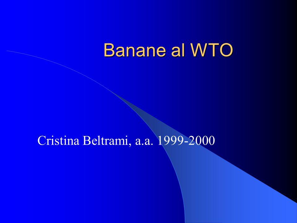 Banane al WTO Cristina Beltrami, a.a. 1999-2000