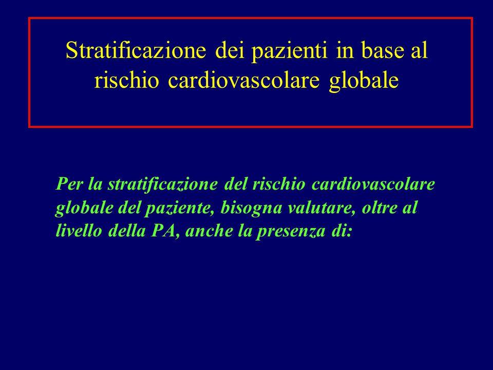 Stratificazione dei pazienti in base al rischio cardiovascolare globale