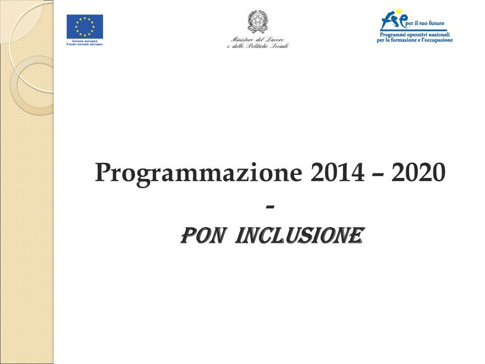 16/04/2017 Programmazione 2014 – 2020 - PON INCLUSIONE 1 1