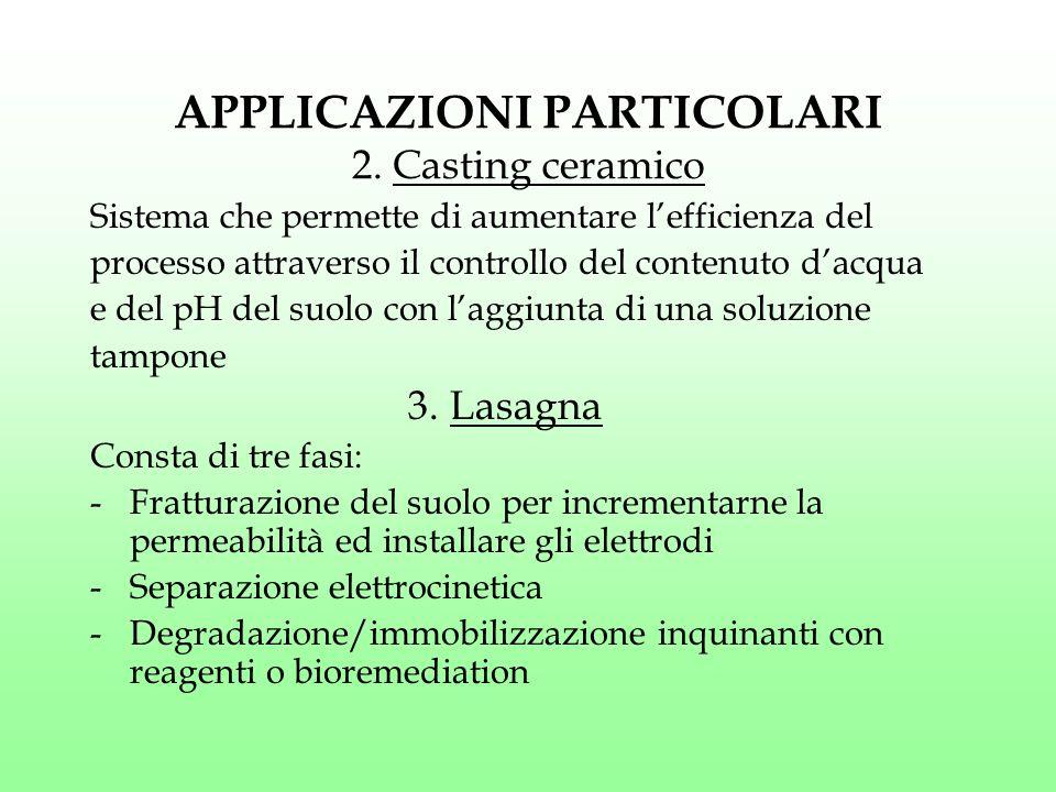 APPLICAZIONI PARTICOLARI 2. Casting ceramico