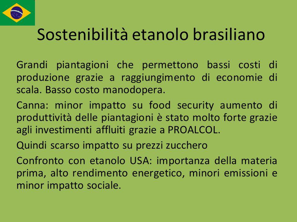 Sostenibilità etanolo brasiliano