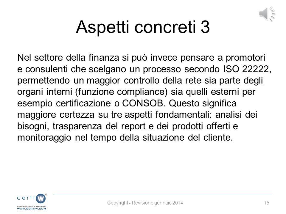 Copyright - Revisione gennaio 2014