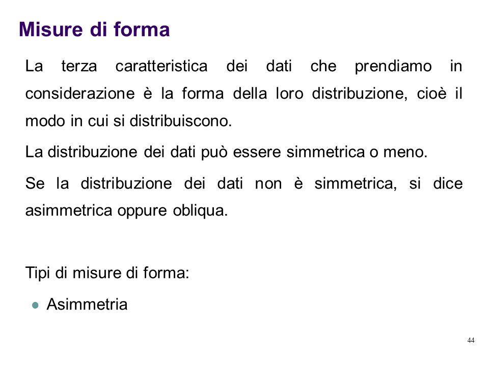 Misure di forma