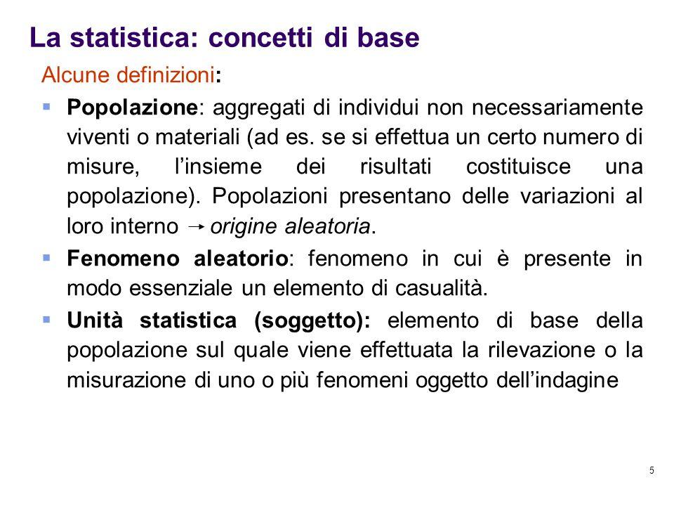 La statistica: concetti di base
