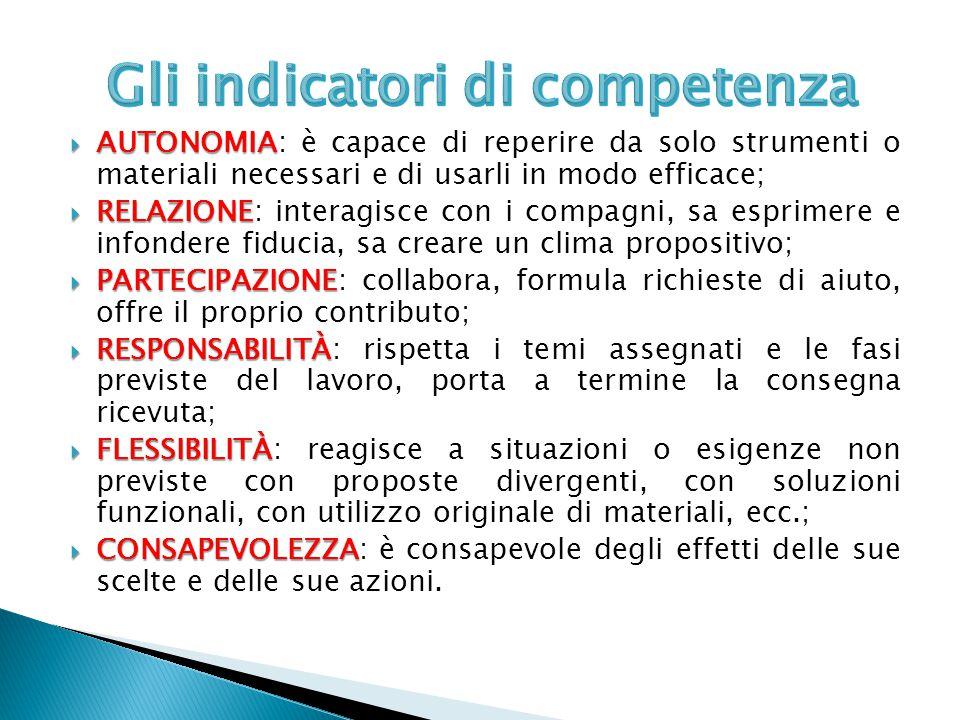 Gli indicatori di competenza