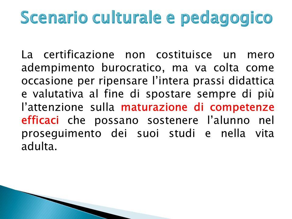 Scenario culturale e pedagogico