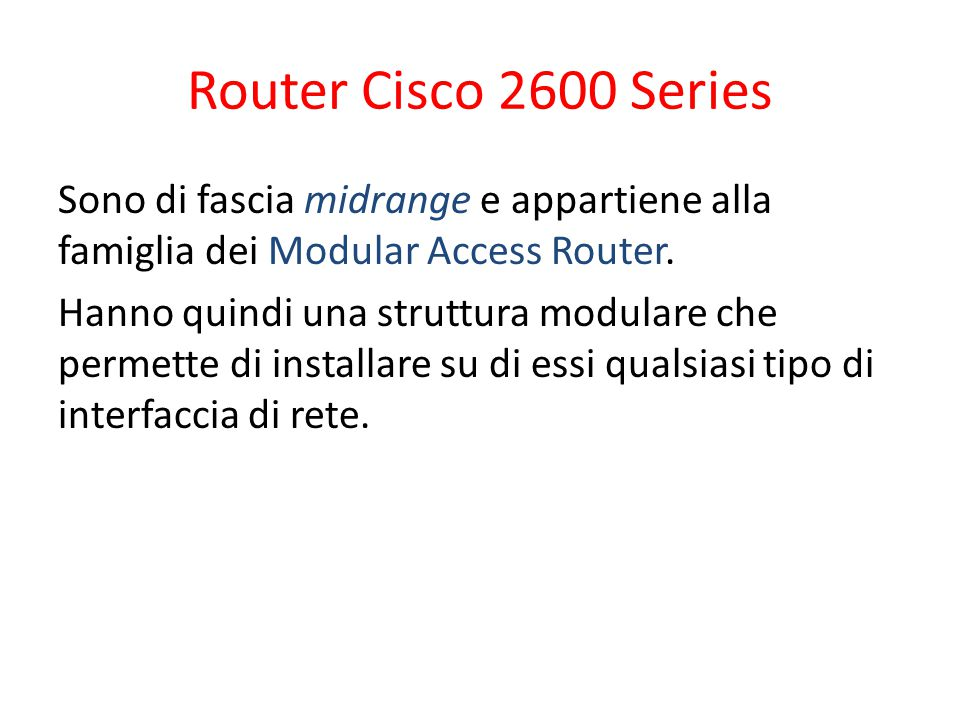 Router Cisco 2600 Series