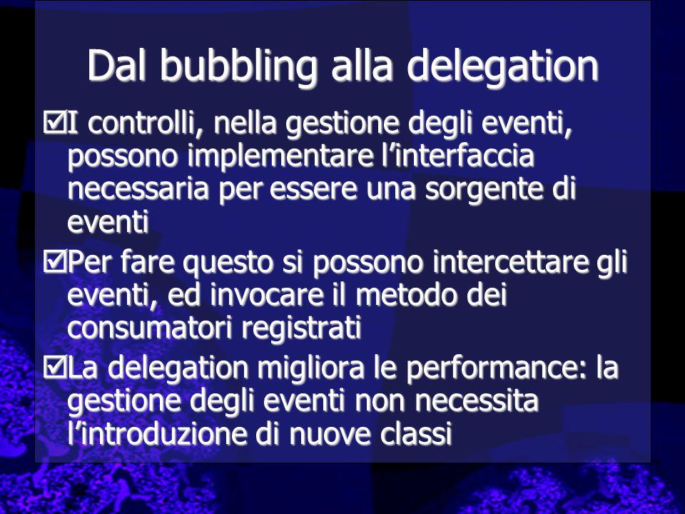 Dal bubbling alla delegation