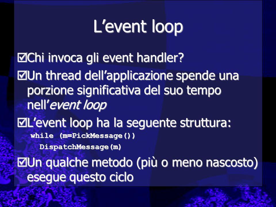 L'event loop Chi invoca gli event handler