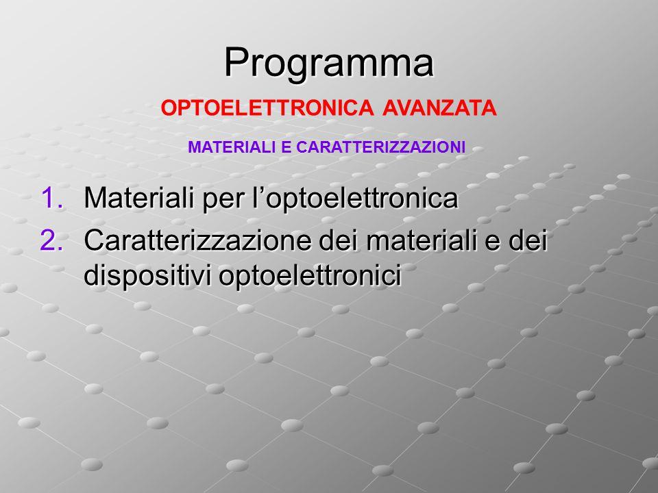 Programma Materiali per l'optoelettronica