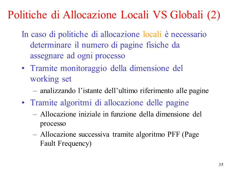 Politiche di Allocazione Locali VS Globali (2)