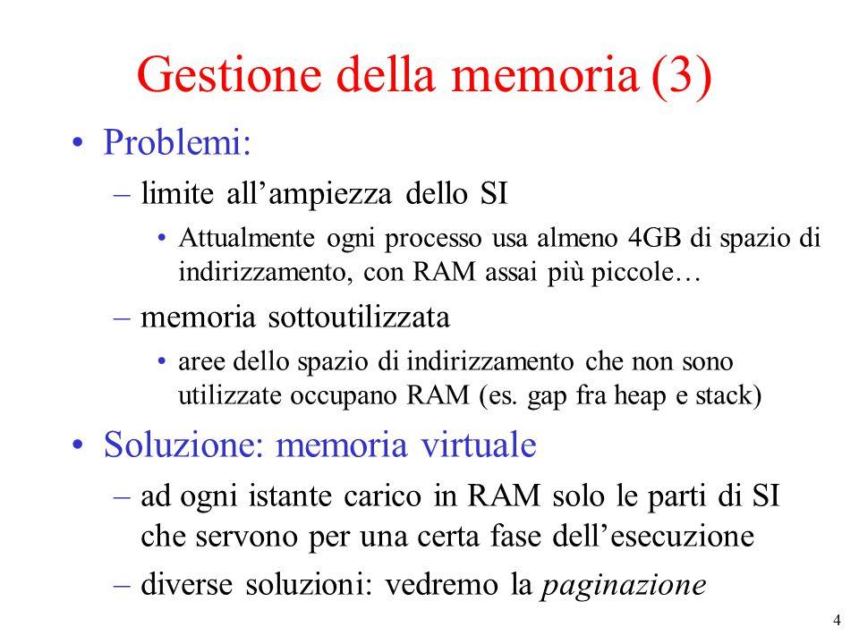 Gestione della memoria (3)