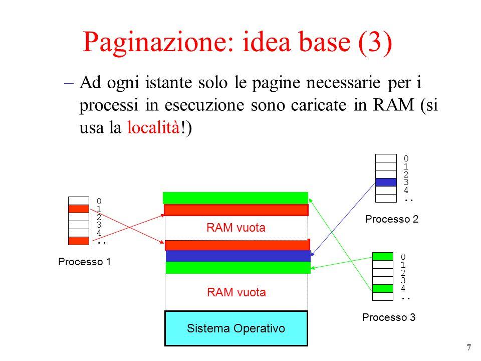 Paginazione: idea base (3)