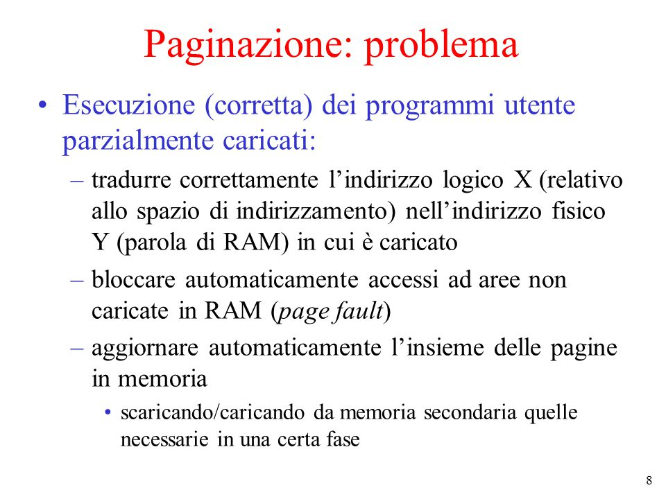 Paginazione: problema