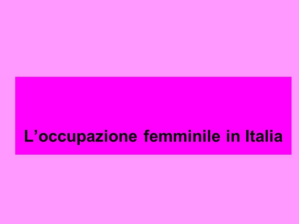 L'occupazione femminile in Italia
