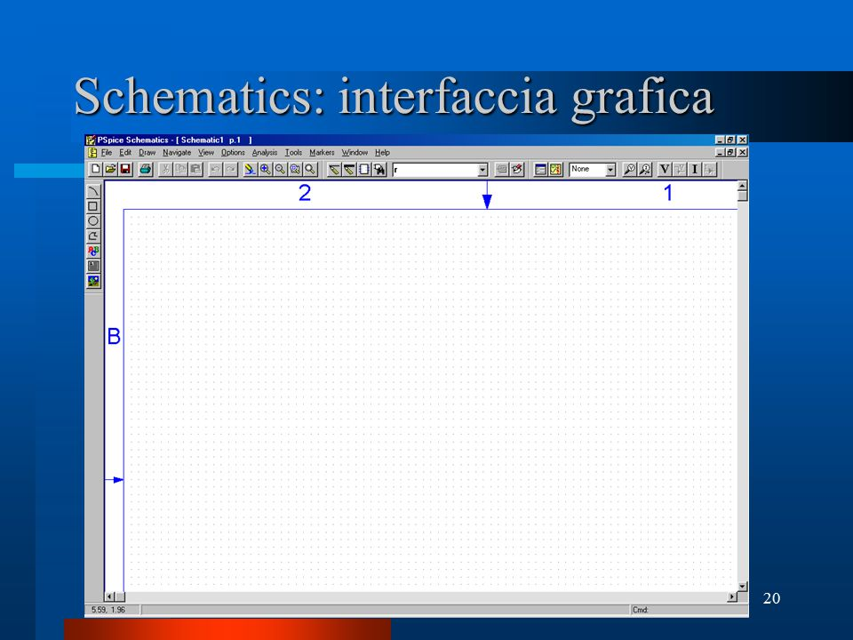 Schematics: interfaccia grafica