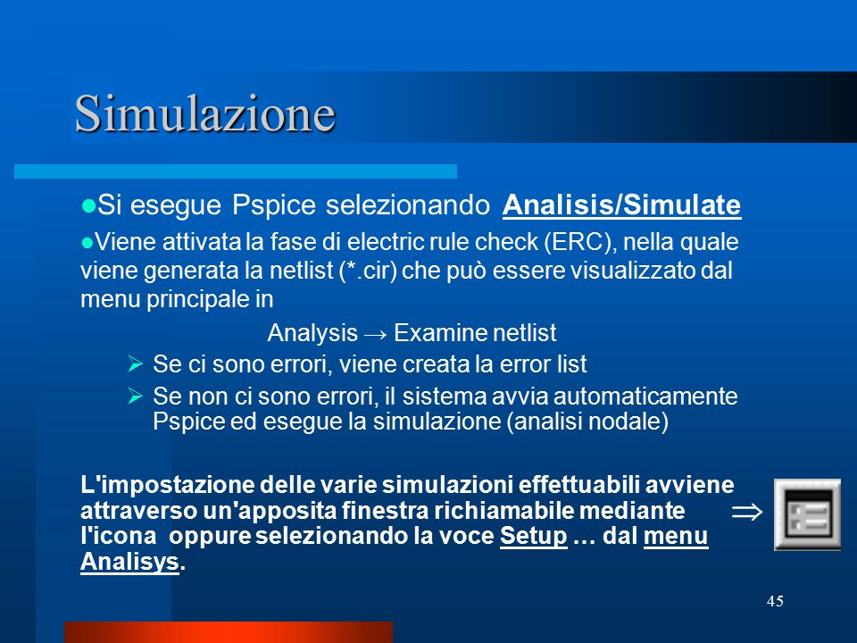 Analysis → Examine netlist