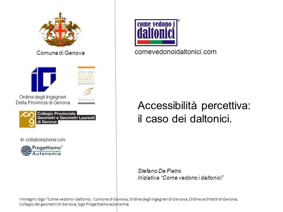 Accessibilità percettiva: il caso dei daltonici.