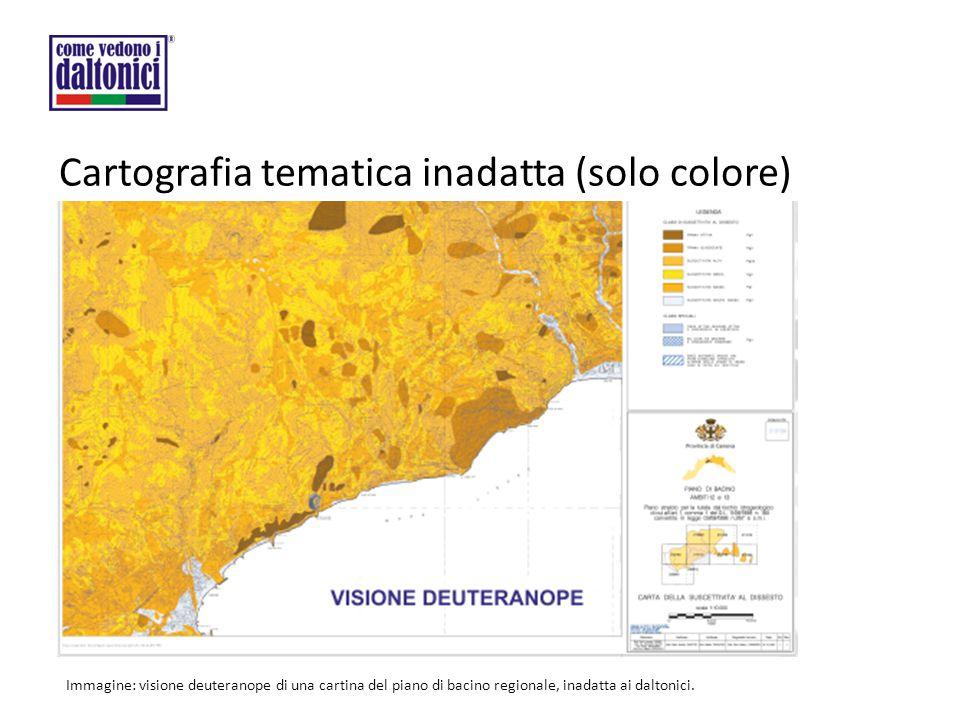 Cartografia tematica inadatta (solo colore)