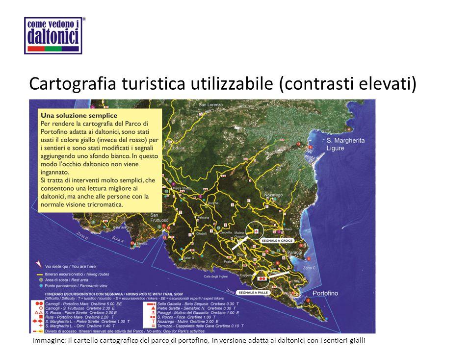 Cartografia turistica utilizzabile (contrasti elevati)