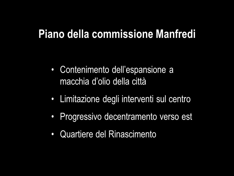 Piano della commissione Manfredi