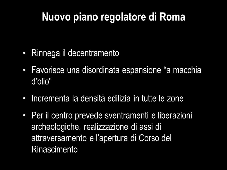 Nuovo piano regolatore di Roma