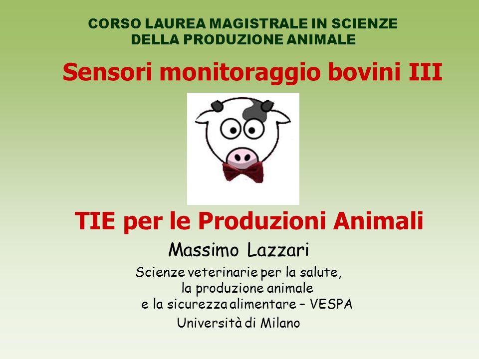 Sensori monitoraggio bovini III TIE per le Produzioni Animali
