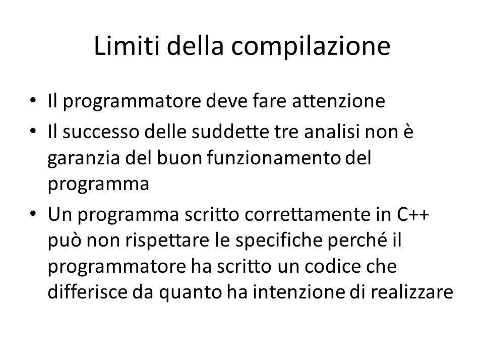 Limiti della compilazione
