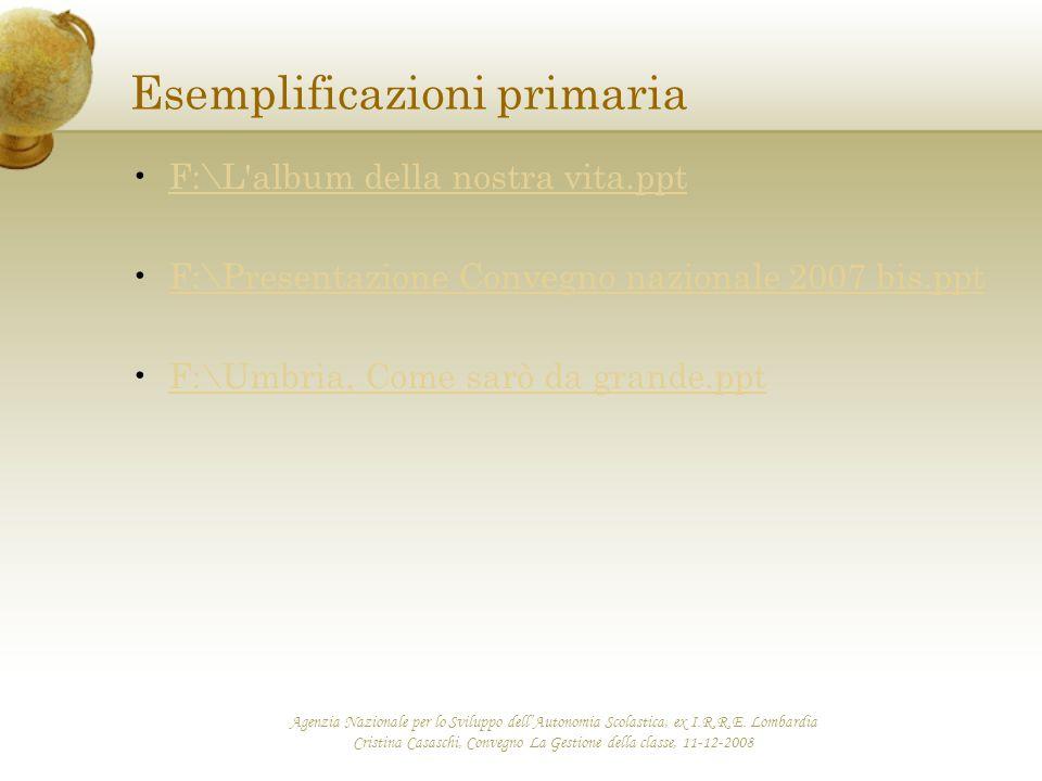 Esemplificazioni primaria