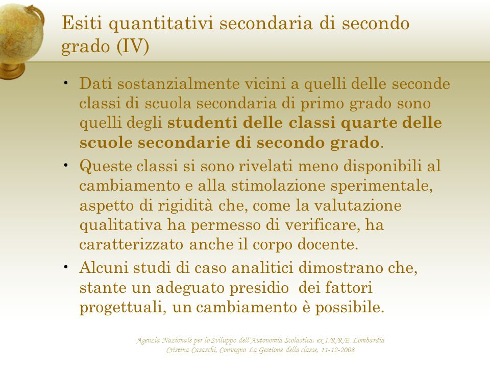 Esiti quantitativi secondaria di secondo grado (IV)