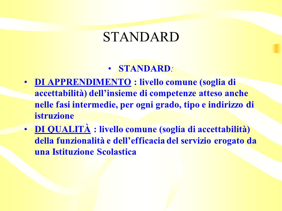 STANDARD STANDARD: