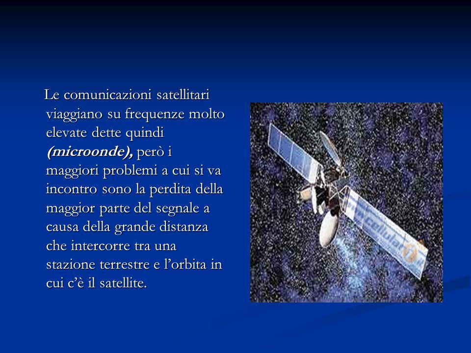 Le comunicazioni satellitari viaggiano su frequenze molto elevate dette quindi (microonde), però i maggiori problemi a cui si va incontro sono la perdita della maggior parte del segnale a causa della grande distanza che intercorre tra una stazione terrestre e l'orbita in cui c'è il satellite.
