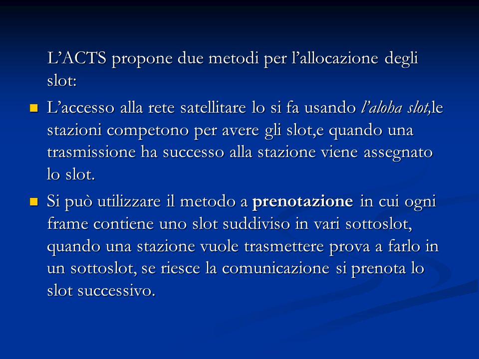 L'ACTS propone due metodi per l'allocazione degli slot: