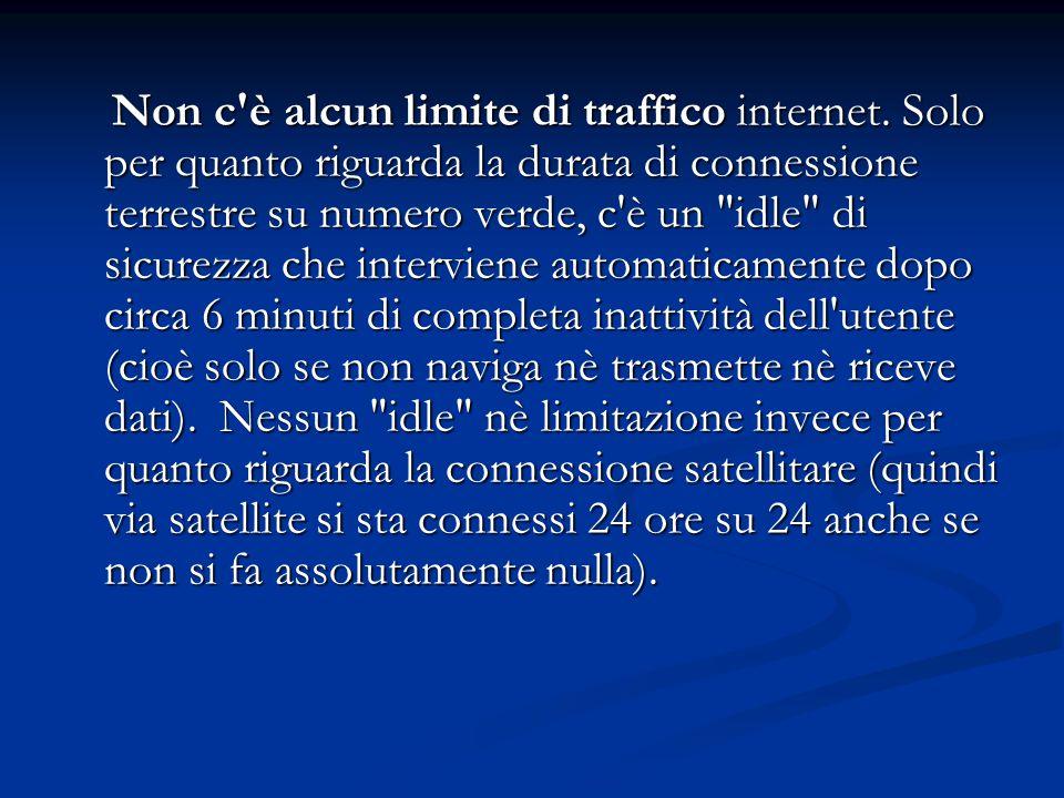 Non c è alcun limite di traffico internet