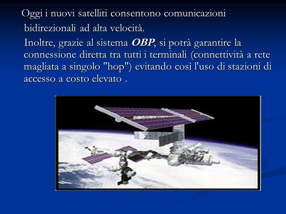 Oggi i nuovi satelliti consentono comunicazioni