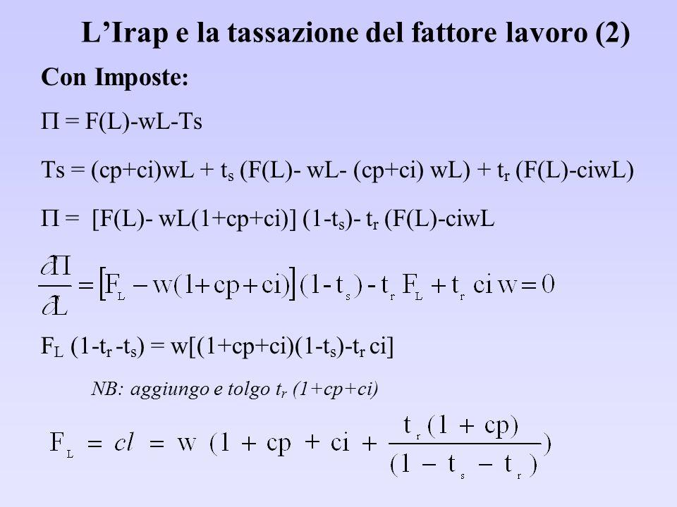 L'Irap e la tassazione del fattore lavoro (2)